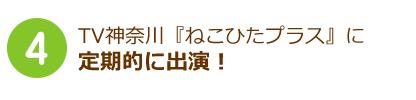 TV神奈川ひたねこプラスに定期的に出演